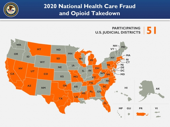 2020 National Health Care Fraud and Opioid Takedown